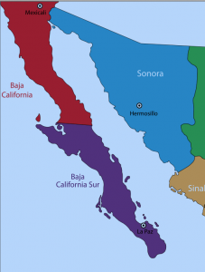 Baja California North and South