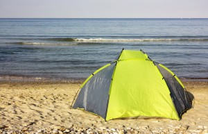 Dont just pitch a tent at the beach