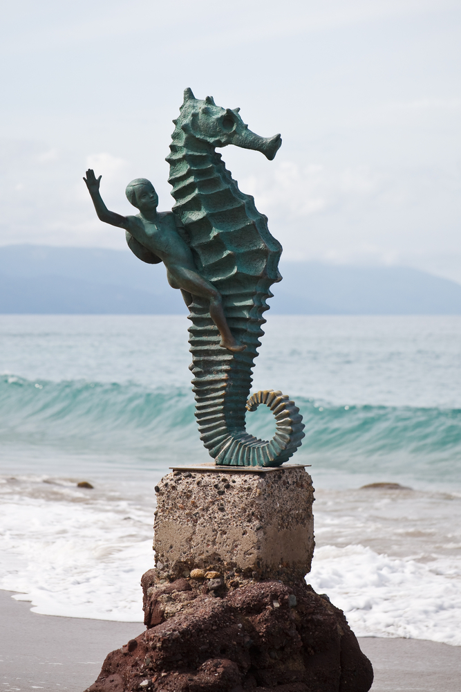 Seahorse sculpture on Los Muertos beach, Puerto Vallarta