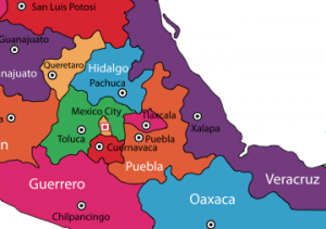 puebla on map