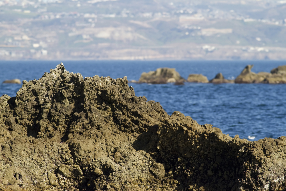 Coronado island rocks seen close to the beaches of Rosarito Mexico