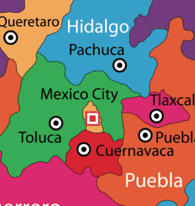 Mexico State In Mexico Go Gringo - Toluca map